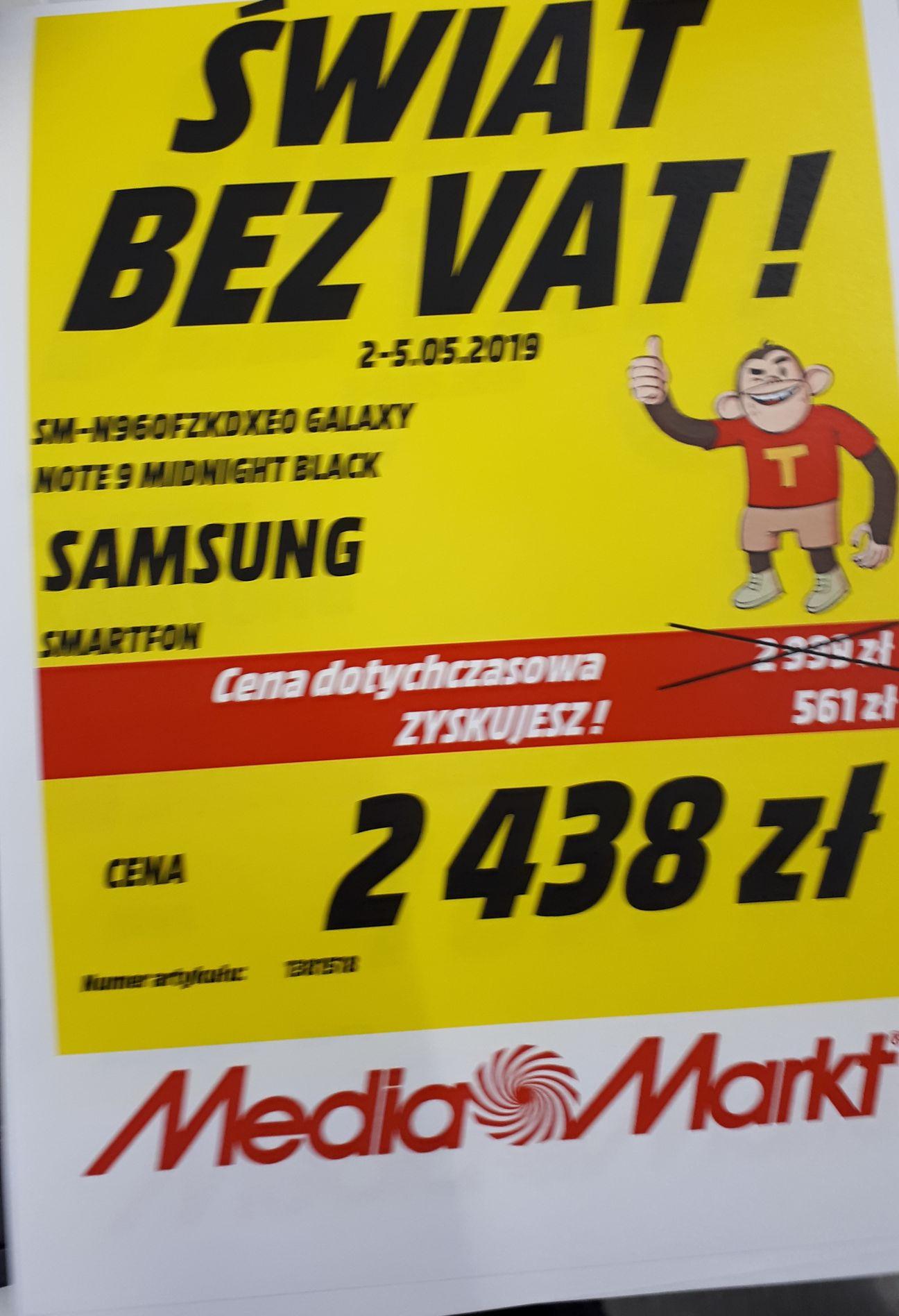 samsung note 9 media markt 2438 zł