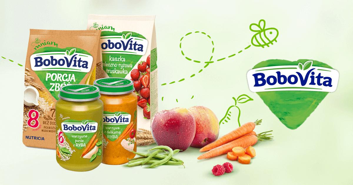 Kaszki Porcja Zbóż oraz inne produkty Bobovita