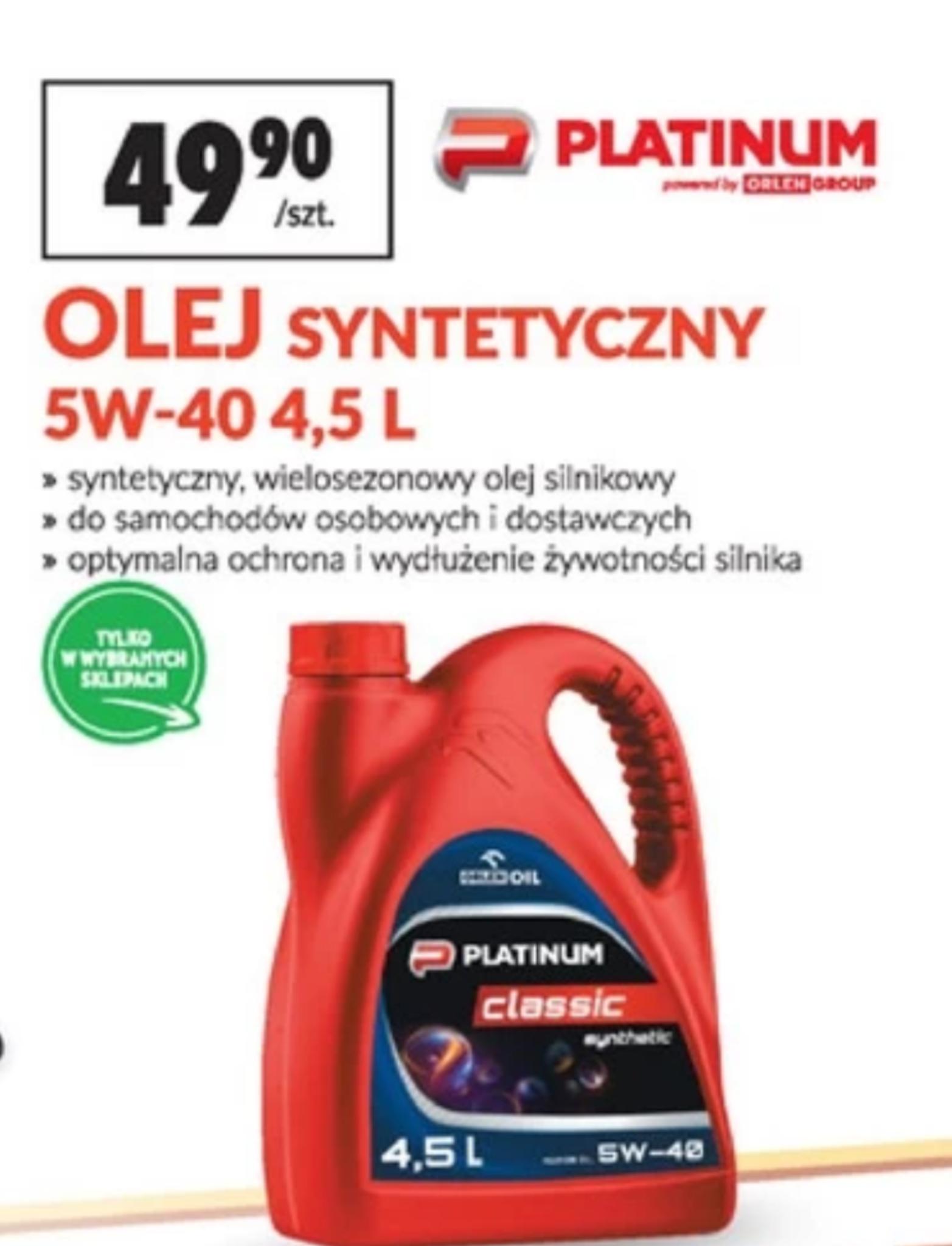 Olej silnikowy Orlen 5w40