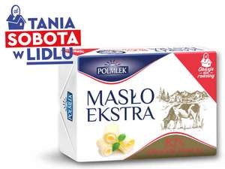 Maslo POLMLEK Masło ekstra @ Lidl przy zakupie 3szt.