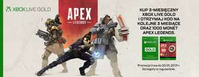 Kup 3-miesięczny Xbox Live Gold i otrzymaj kod na kolejne 3 miesiące oraz 1000 monet apex legends