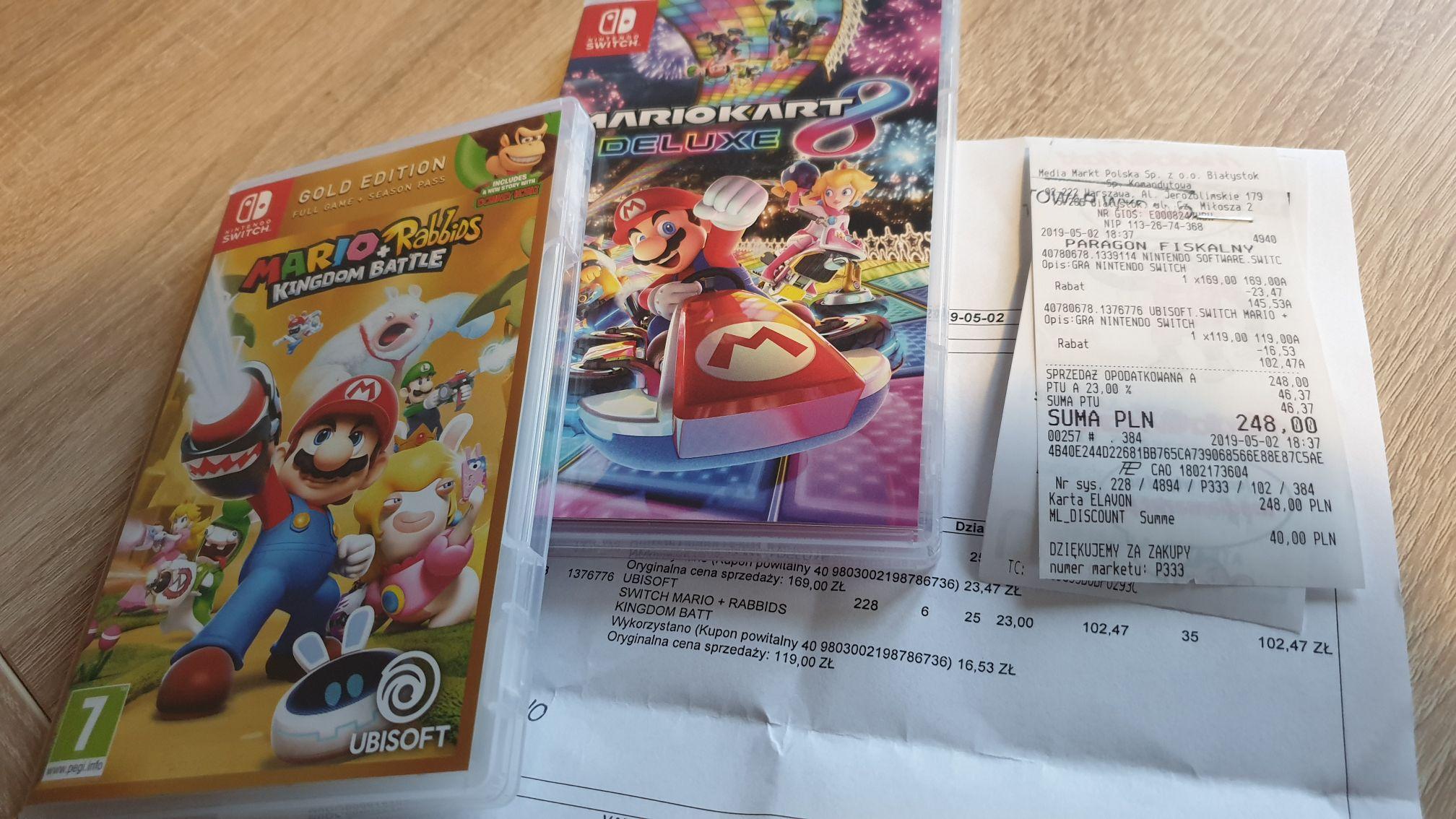 MEDIA MARKT Kilka gier na Nintendo Switch w atrakcyjnych cenach (taniej z kodem powitalnym w klubie MM)