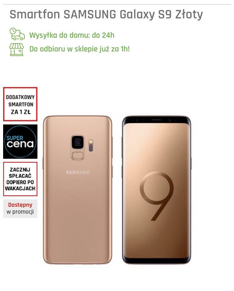 Samsung Galaxy S9 odbiór w sklepie