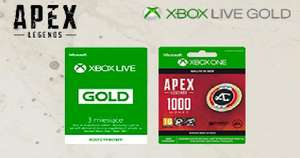 Xbox Live Gold 6 miesięcy plus 1000 monet Apex Legends za 79zl