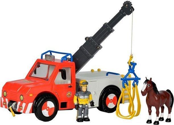 Zabawka Strażak Sam Pojazd Phoenix z figurką i koniem, Simba, okazyjna cena, dostawa za darmo