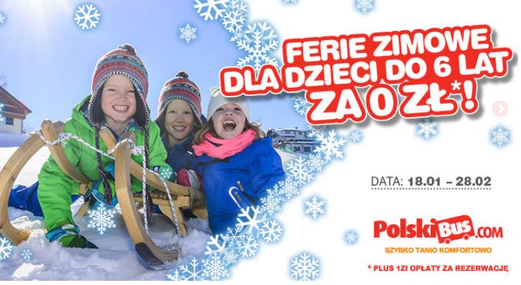 Podróże za 1zł dla dzieci do lat 6 @ Polski Bus