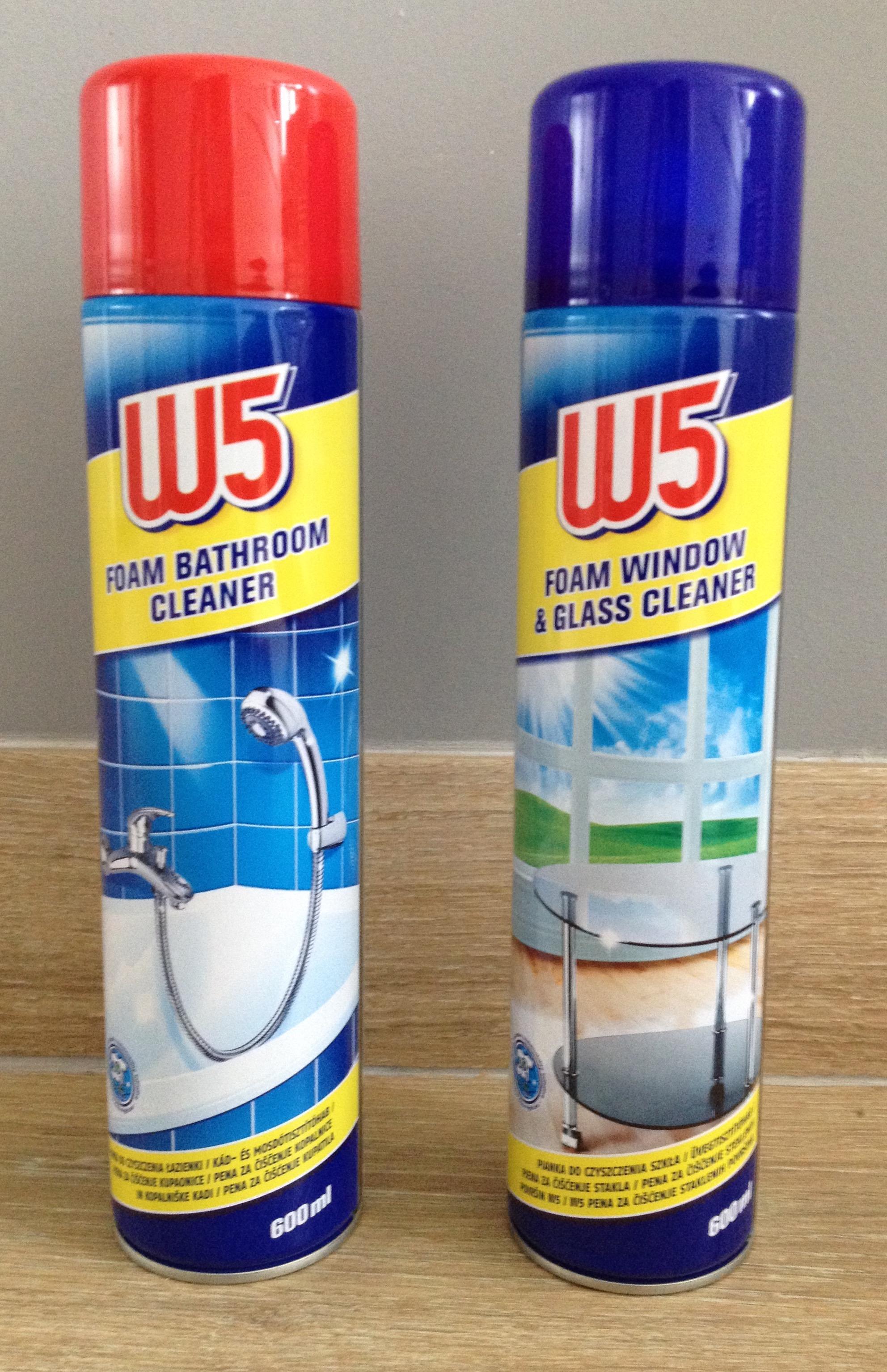 W5 pianka 600 ml do czyszczenia łazienki i szkła, Lidl