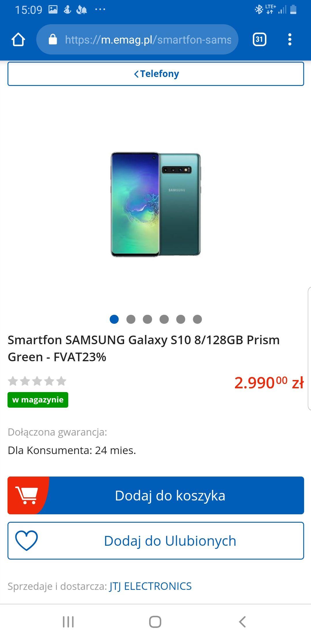 Samsung galaxy s10 8/128 różne kolory. Emag