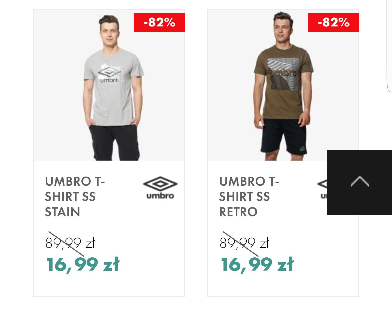 50 style męskie T-shirty umbro i feewear po 16.99
