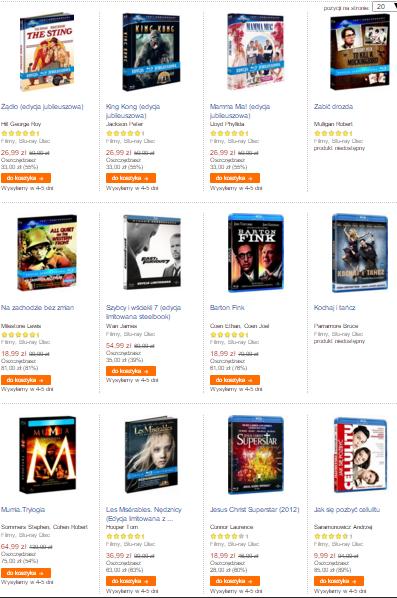 Wyprzedaż filmów na Blu-Ray (np. King Kong, Mamma Mia!, Na zachodzie bez zmian i inne) @ Empik.com