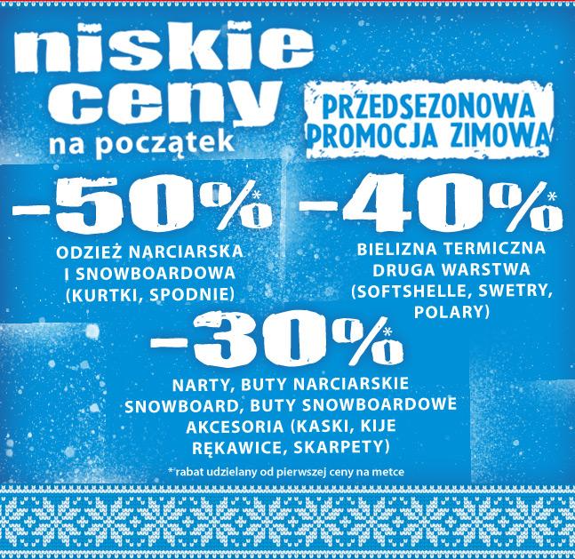 Do 50% rabatu na odzież i sprzęt sportowy @ Ski Team