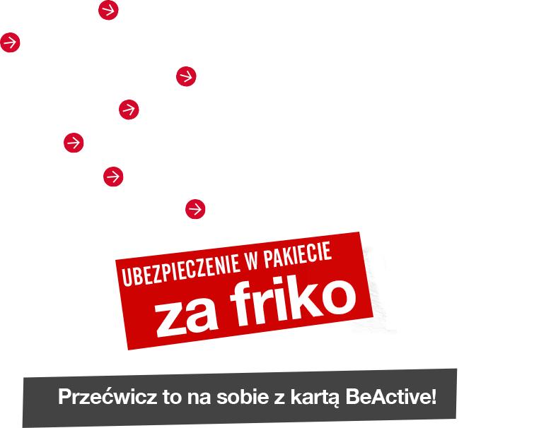 Siłownia z kartą beActive 2+2 miesiące gratis