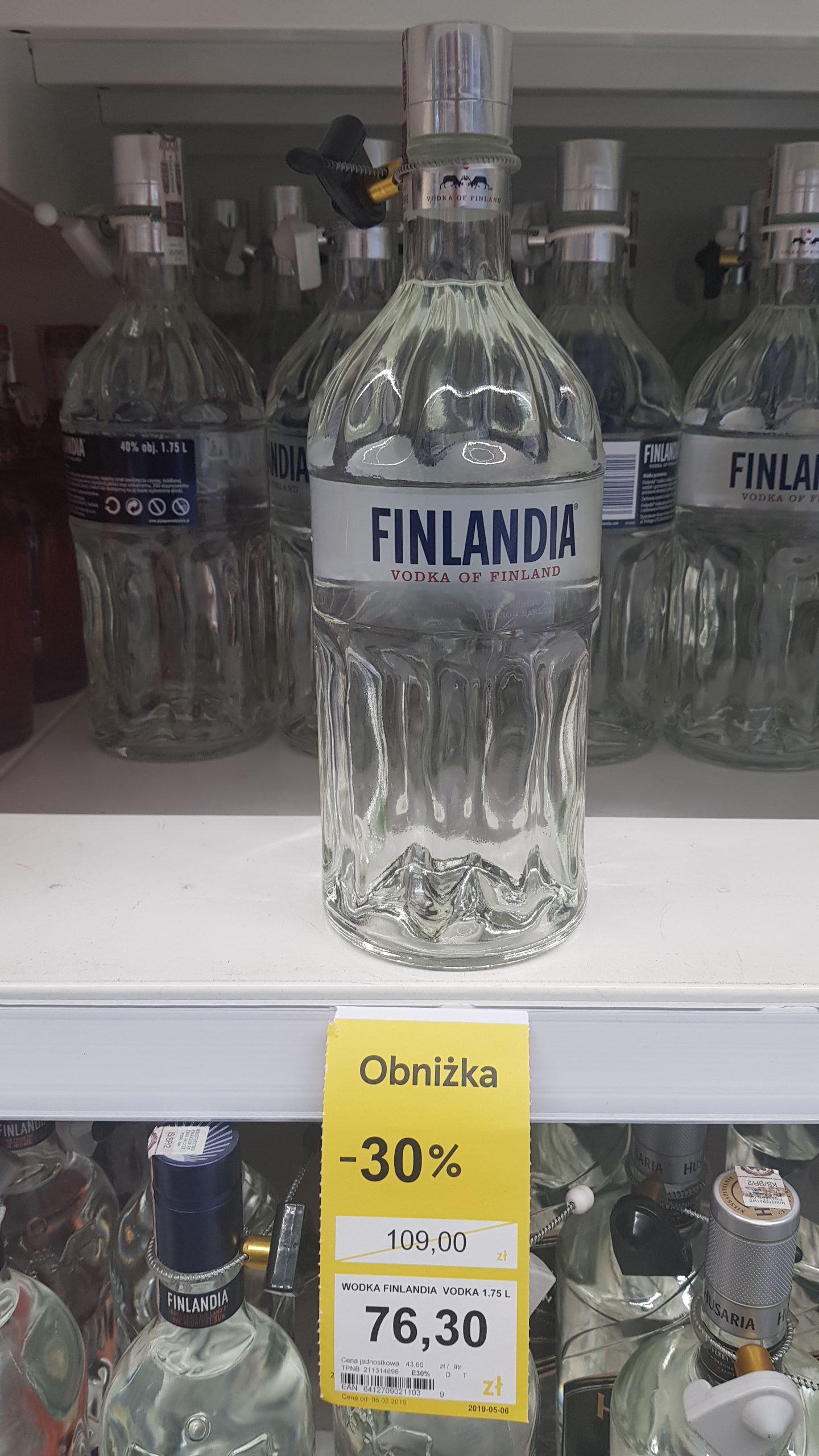 Wódka Finlandia 1.75l Tesco Ogólnopolska