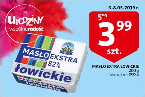 Masło Extra Łowickie w auchanie