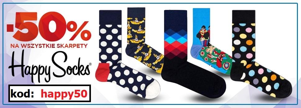 50% rabatu na skarpetki Happy Socks @ nastopy.pl