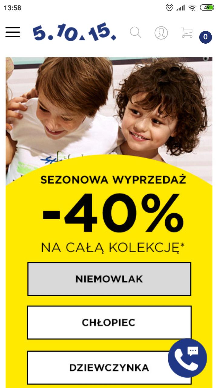 -40% 5.10.15 na kolekcję wiosna-lato 2019