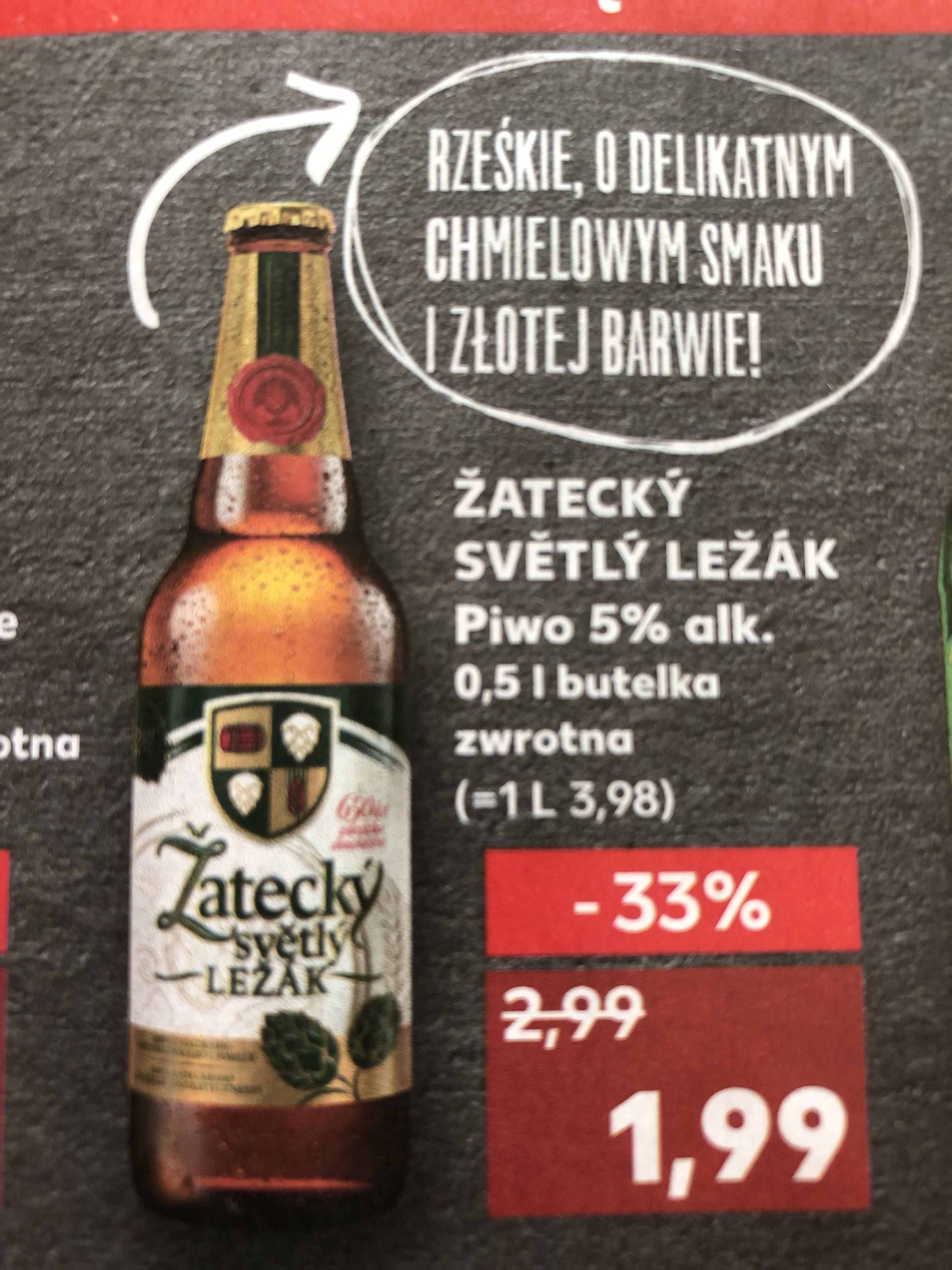 Kaufland Piwo Žatecky Svētly Ležāk 0,5 l po 1,99 zł