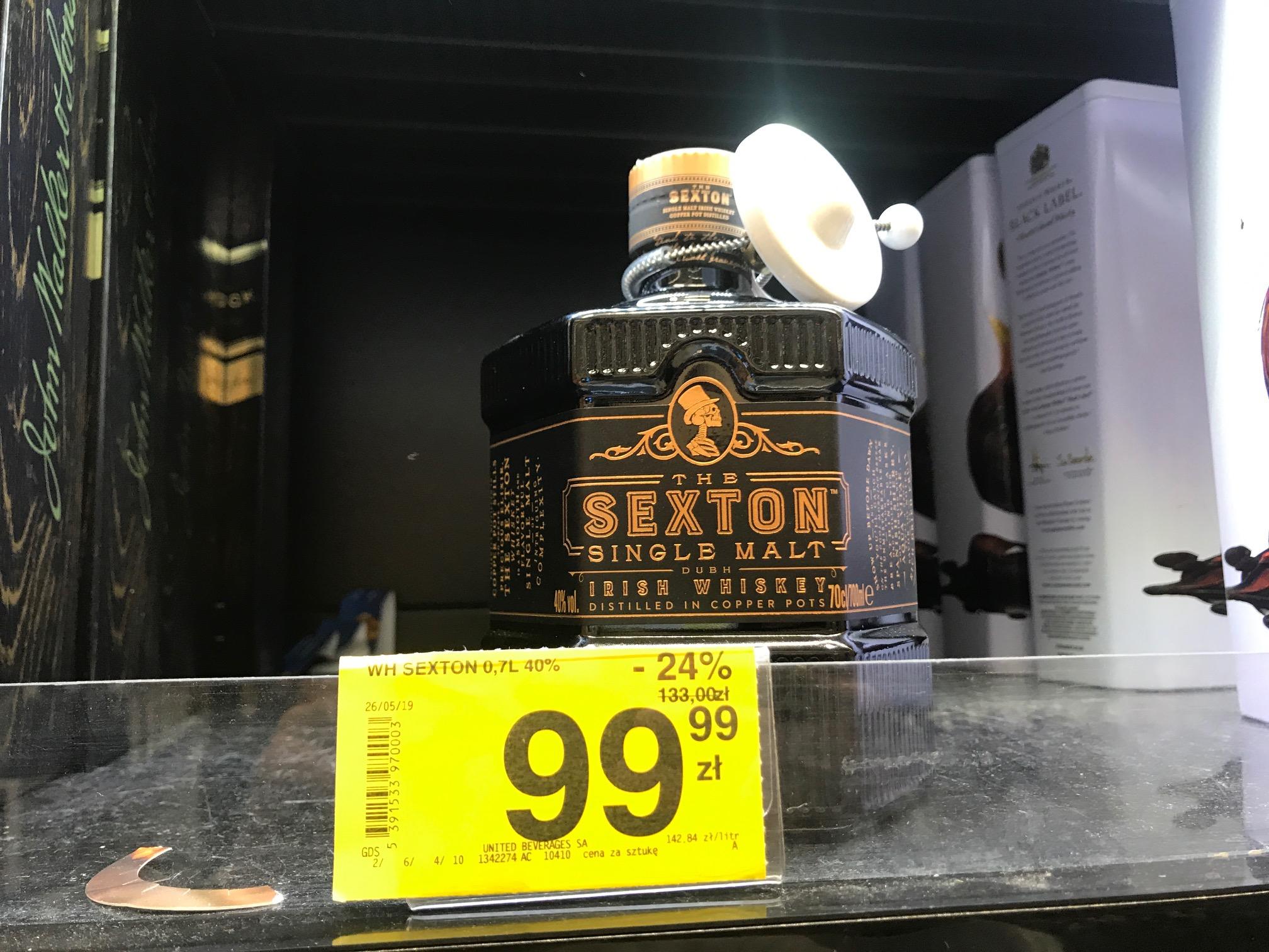 Carrefour Jaworzno Irish Whiskey The Sexton Single Malt 0.7l