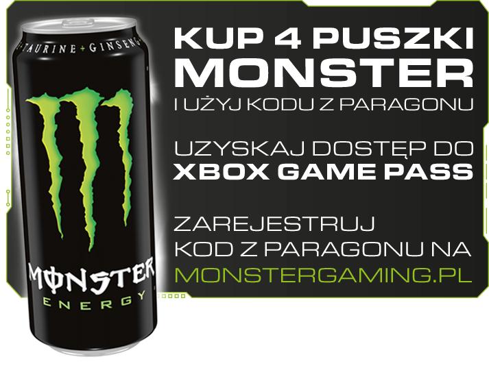 Xbox Game Pass 4 tygodnie gratis przy zakupie 4x Monster w Żabce i Fresh market od 08.05.2019