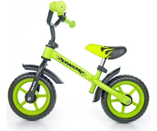MILLY MALLY Rowerek biegowy Dragon zielony