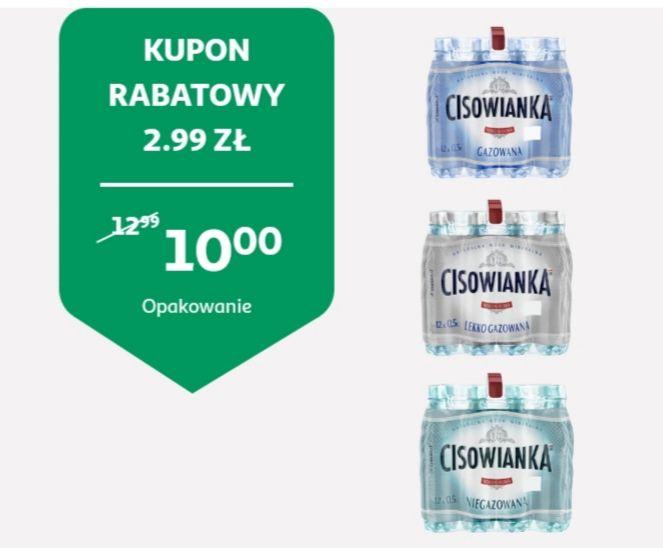 Woda mineralna Cisowianka 0.5 L, różne rodzaje,  Auchan