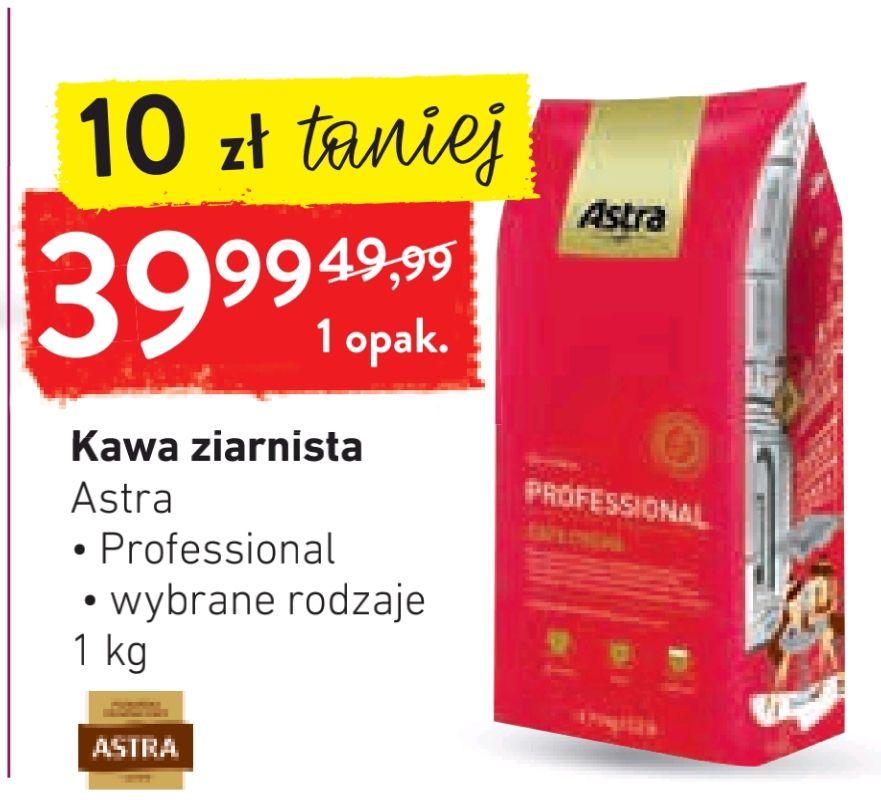 Kawa ziarnista Astra Professional Espresso, Crema 1kg z aplikacją sklepu @ Intermarche