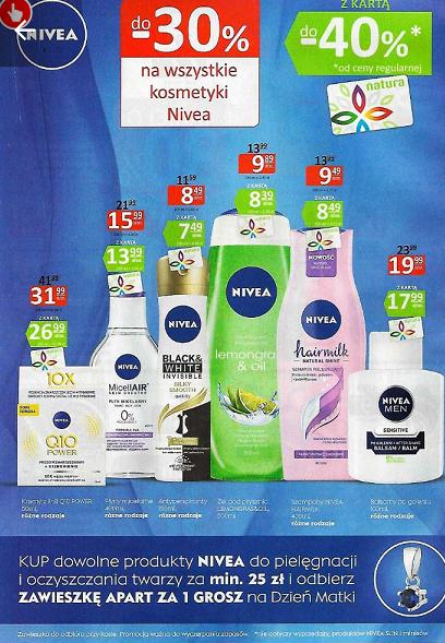 Zawieszka Apart gratis przy zakupie produktów Nivea za min.25zł @ Natura