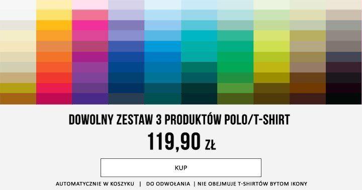 Bytom - 3 dowolne polo/t-shirty za 119.90