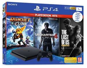 PlayStation 4 Slim 1TB + Days Gone + The Last of Us Remastered + Uncharted 4: Kres Złodzieja + Ratchet & Clank