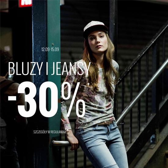 -30% na Bluzy i Jeansy w House