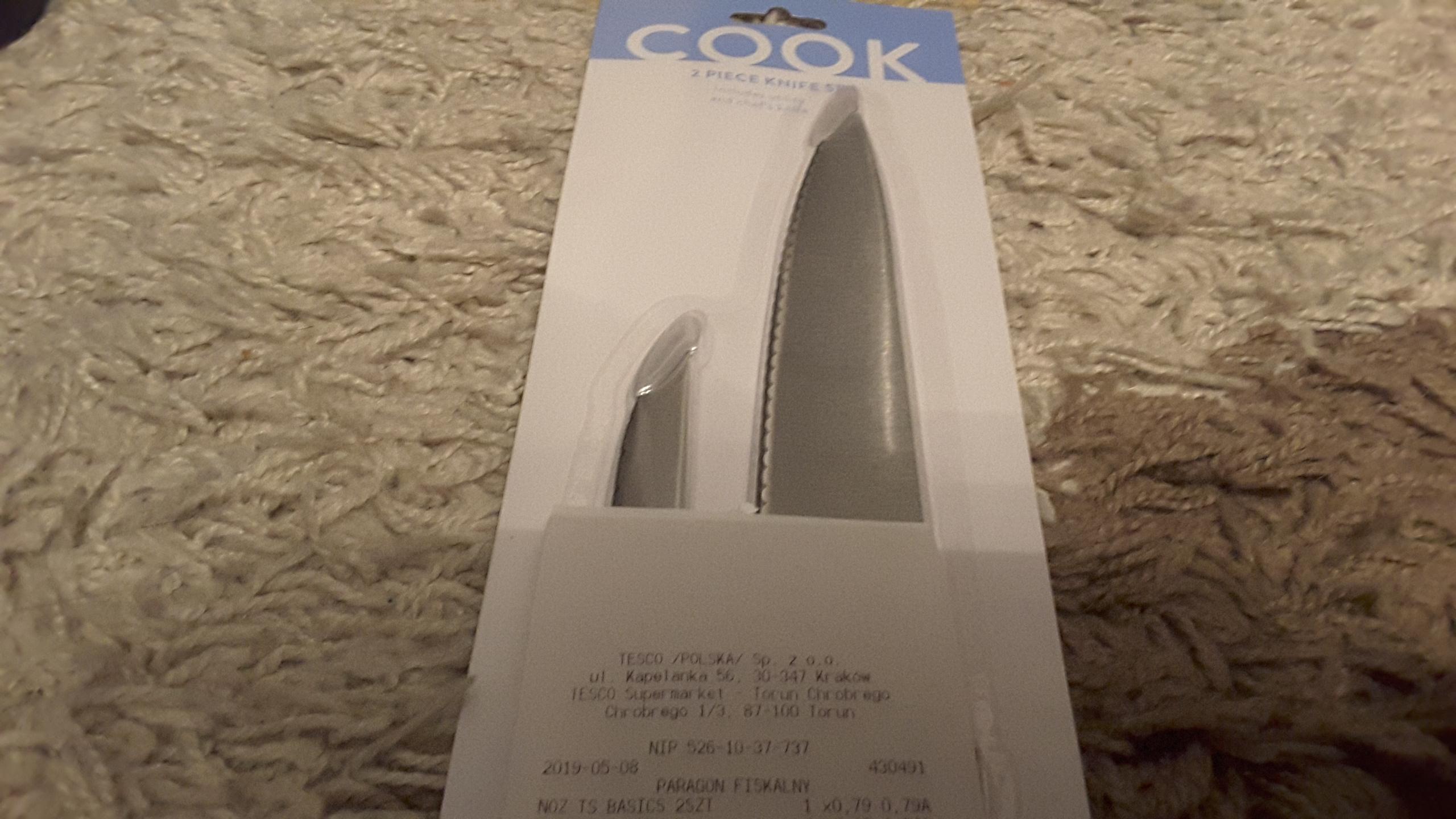 Komplet noży 2 szt. Tesco Basic w Tesco, POGŁĘBIENIE PROMOCJI!!!