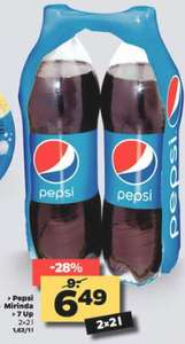 Pepsi Mirinda 7UP 2x 2L (11 maja) @Netto