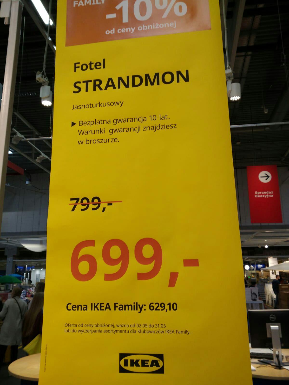 Fotel STRANDMON - Ikea Katowice