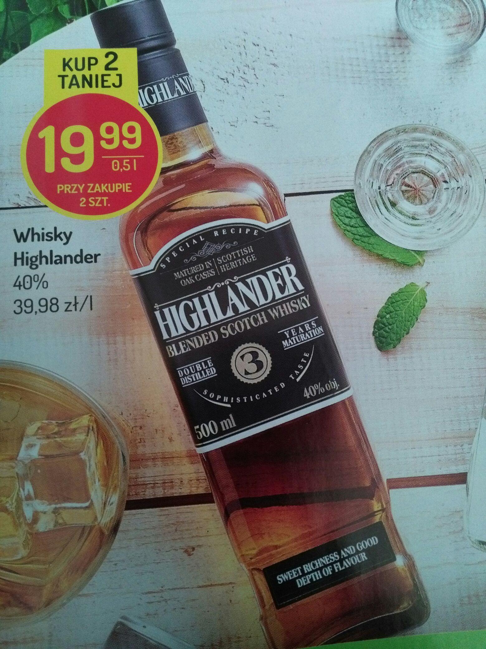 Tania łycha w cenie czystej Highlander 3 yo whisky