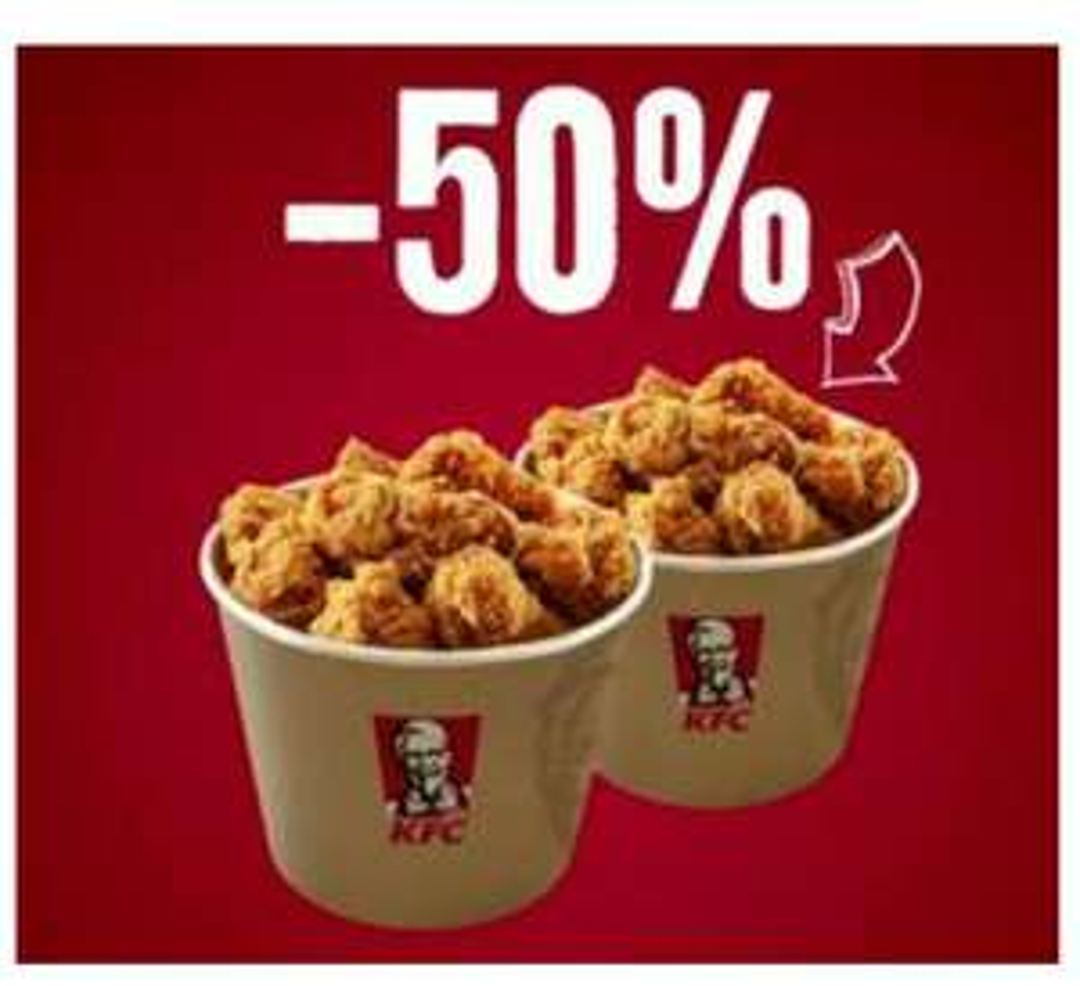 [KFC] drugi kubełek -50% tylko przez trzy weekendy!