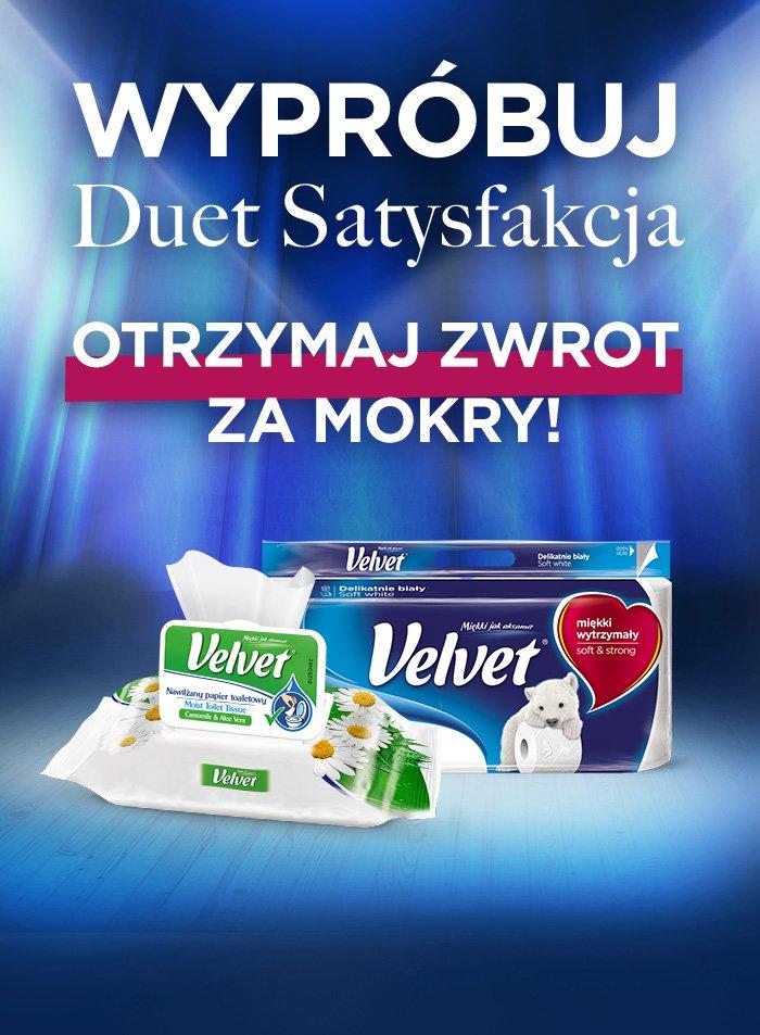 Zwrot za zakup papieru toaletowego od Velvet