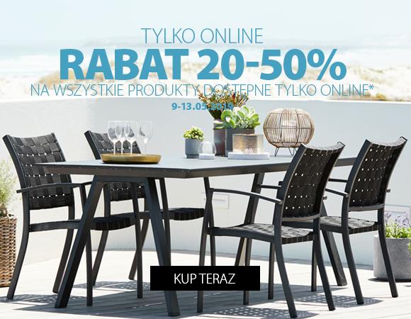 Rabat 20-50% na artykuły online w Jysk