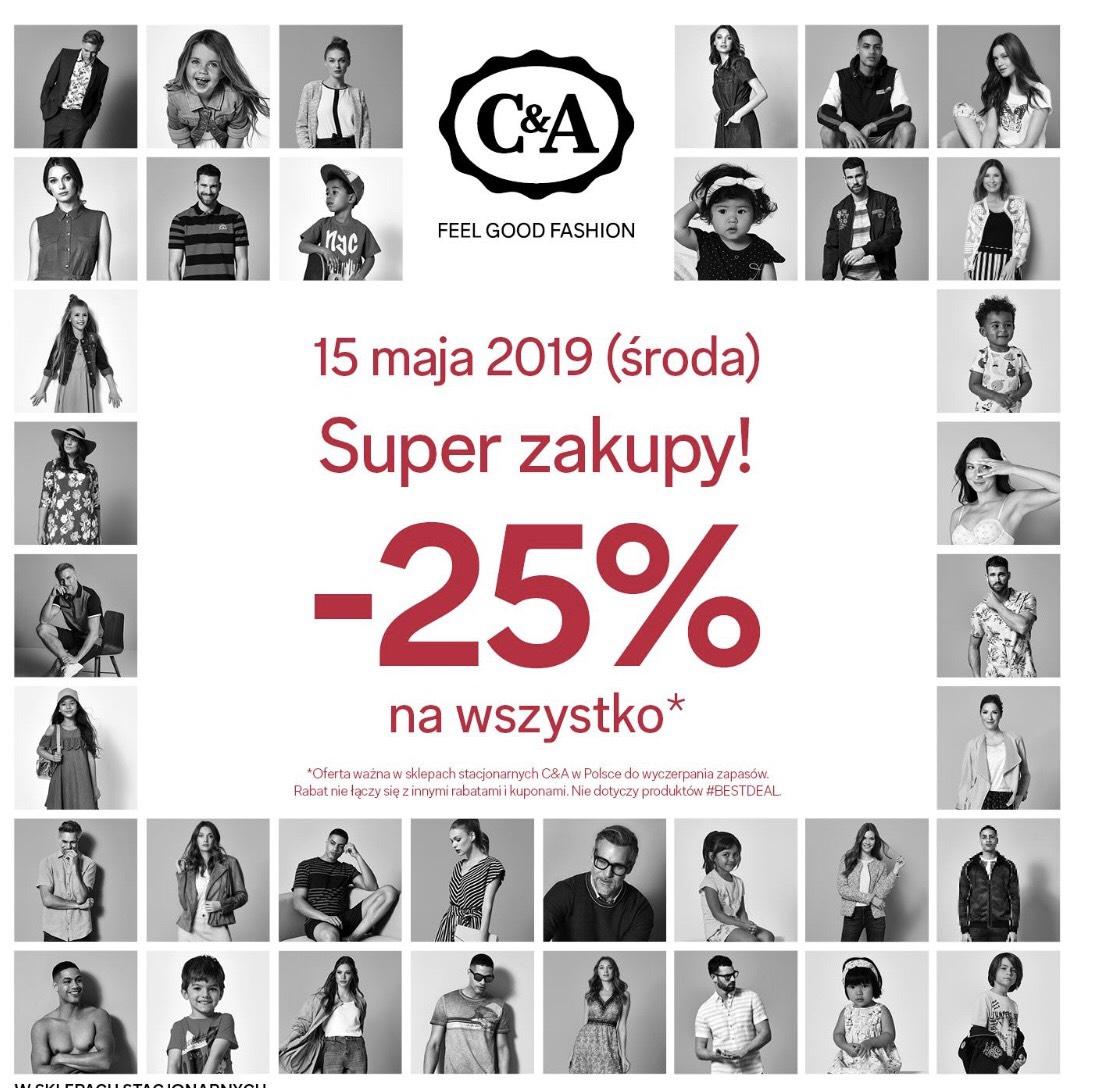-25% na wszystko w C&A 15.05