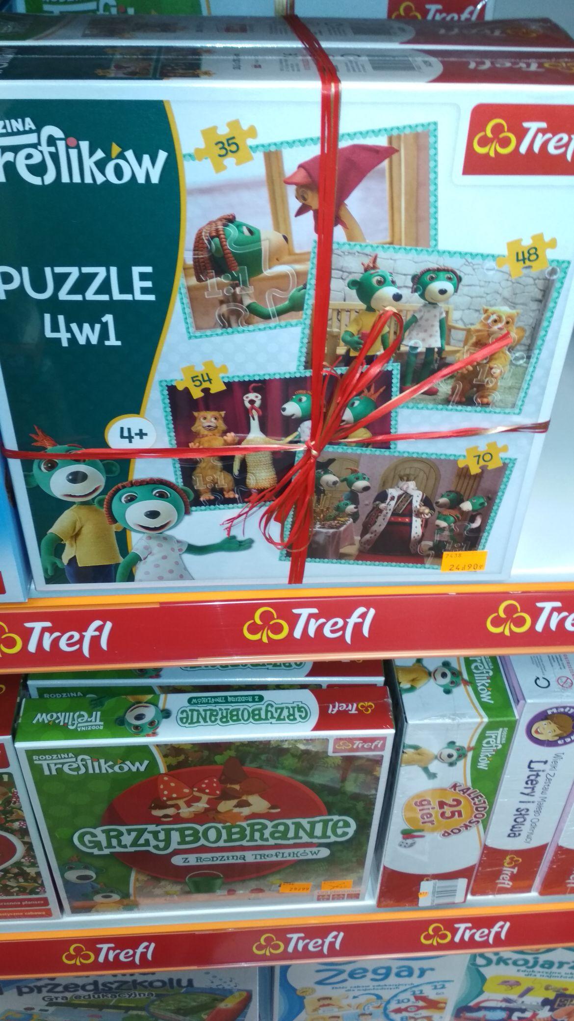 2 za 1 puzzle rodzina Treflikow Świat Zabawek Pruszkow