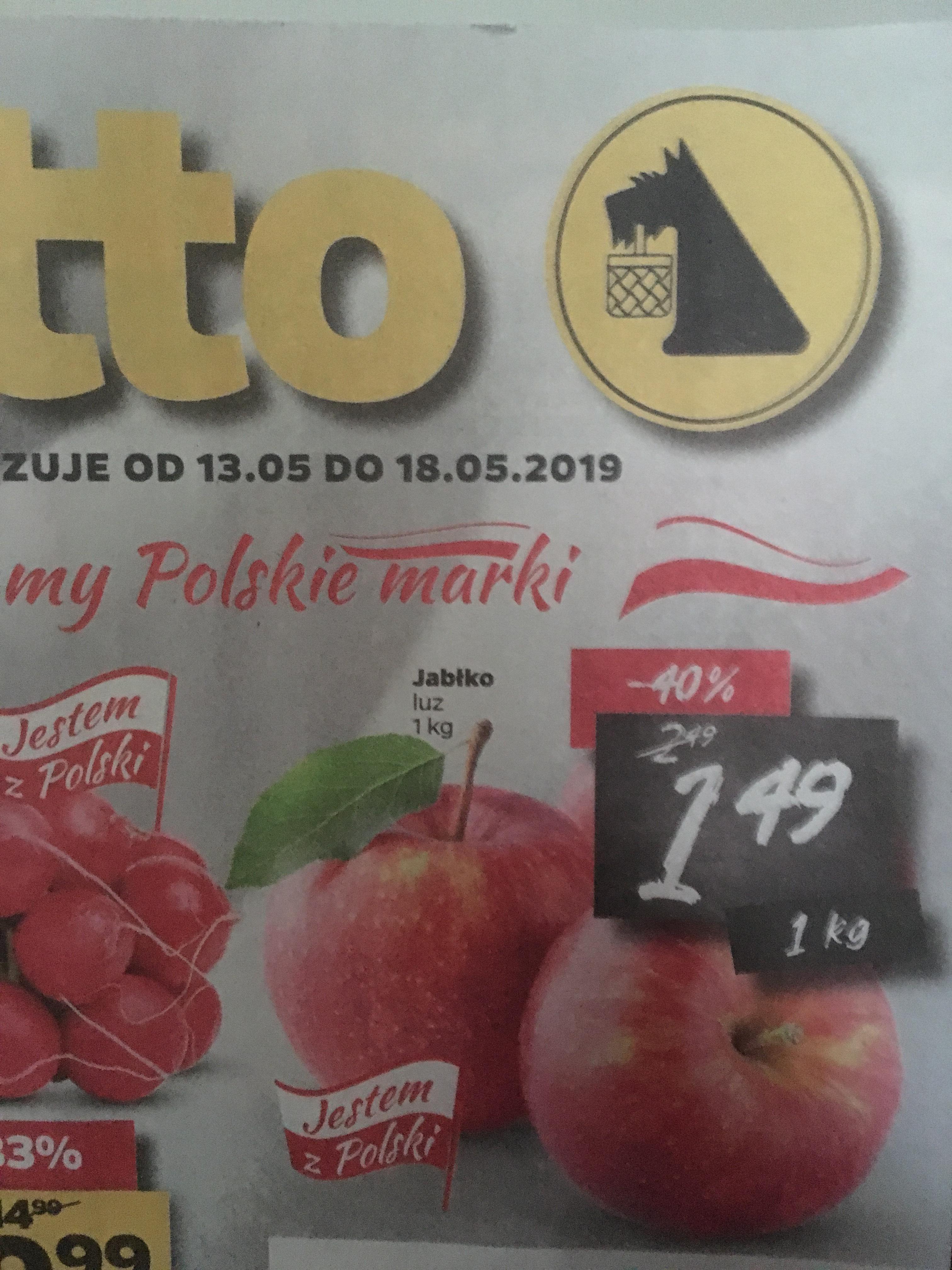 Polskie jabłka 1,49 zł za kilogram sklep Netto