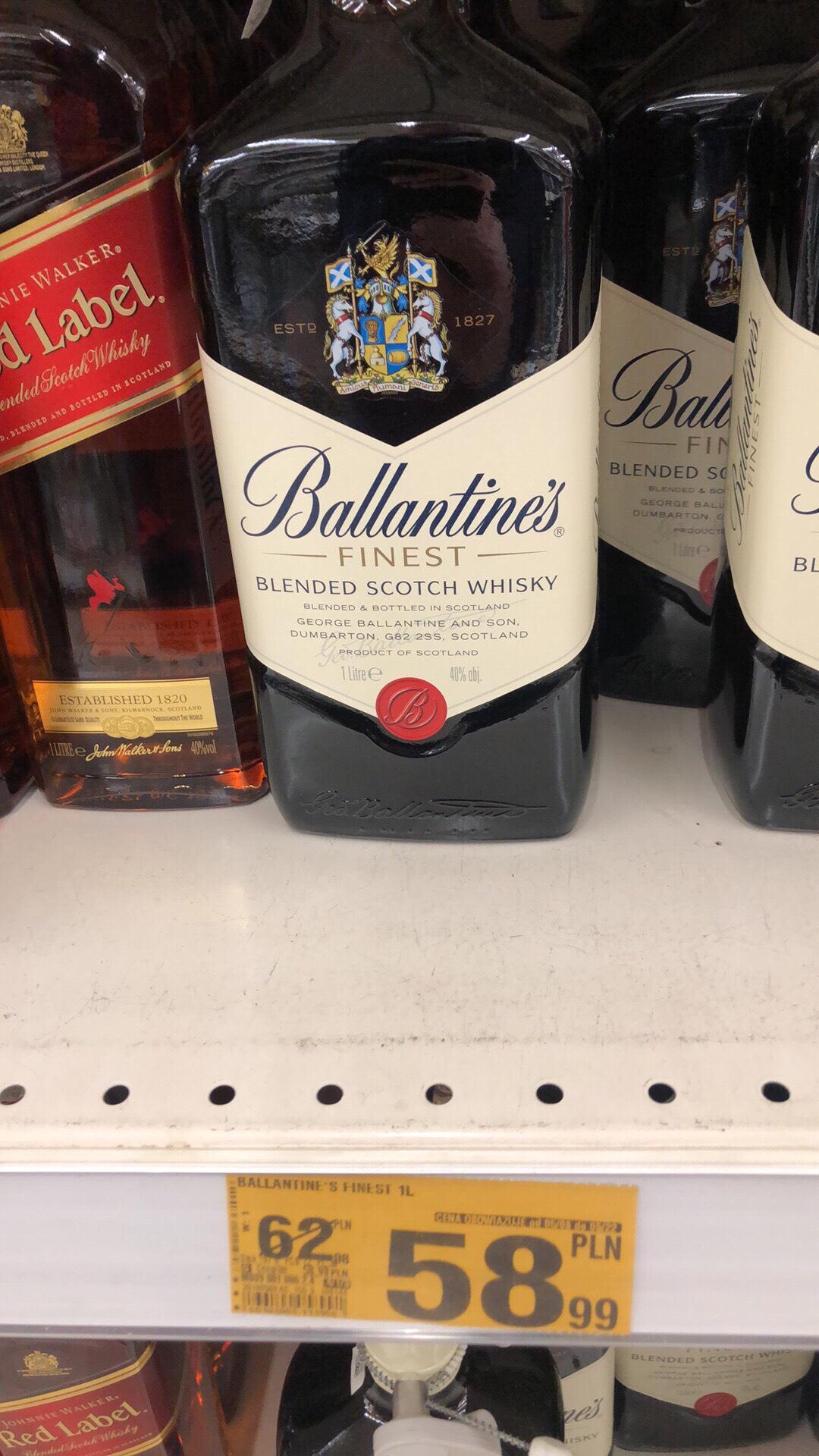 Ballantines 1 L 58,99 Auchan Radom M1