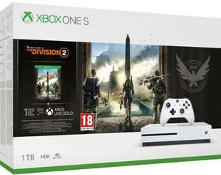 Microsoft Xbox One S 1TB + Tom Clancy's The Division 2 + prezent (gra dodatkowa Gears of War 4 i gamepad), @mall