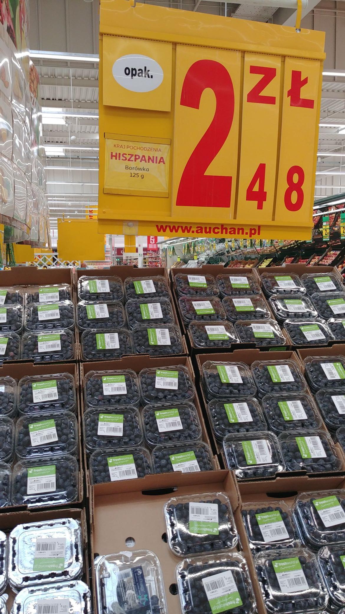 Auchan: Borówka amerykańska 2,48