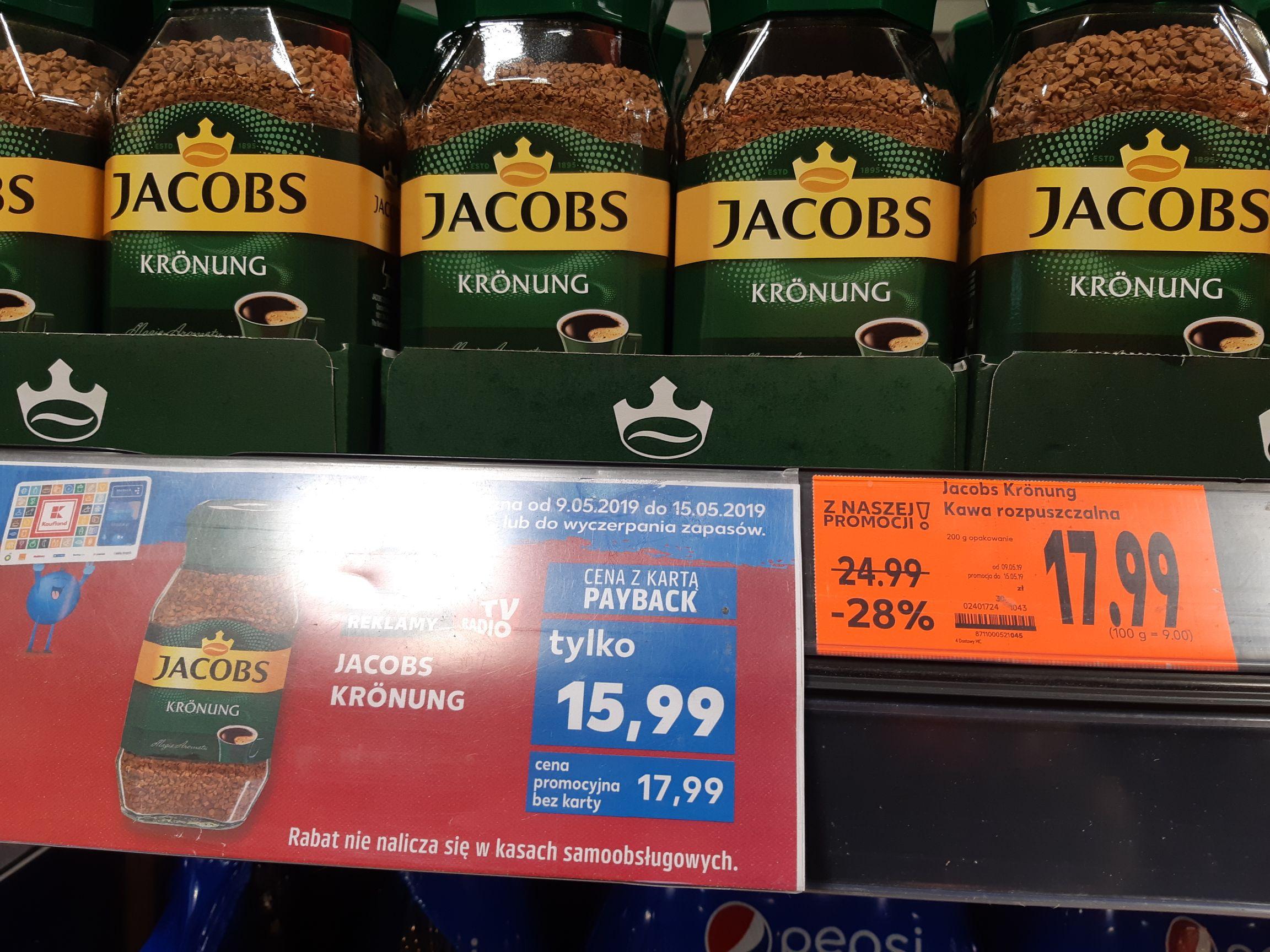 Kawa Jacobs Krönung z 15,99 z kartą PAYBACK w Kaufland