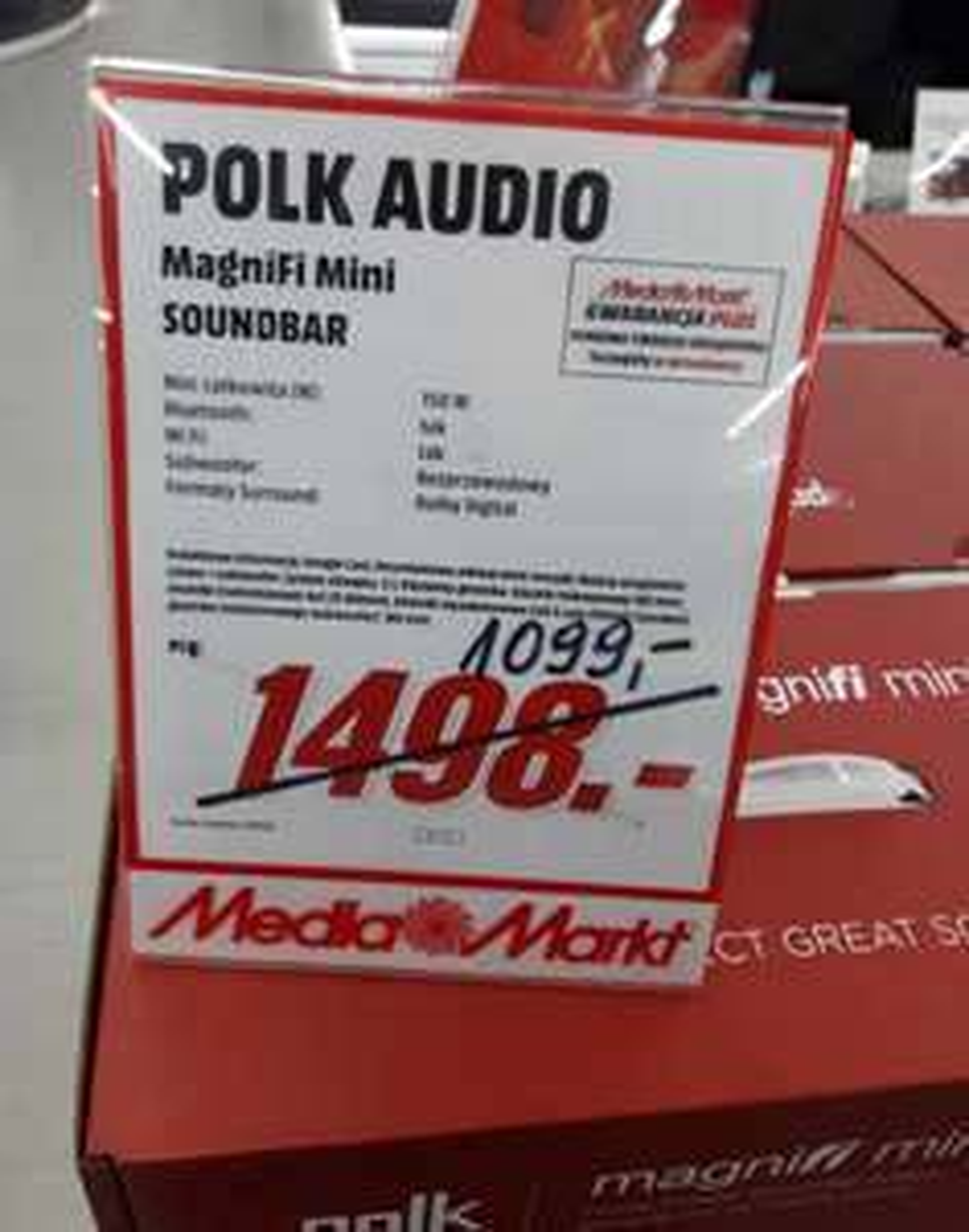 Soundbar POLK AUDIO Magnifi Mini - Media Markt Katowice