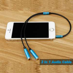 Male-female 2 In 1 Audio Cable 3.5mm