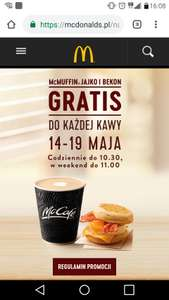 Mc Donalds Mc muffin gratis do kawy 14-19 maja