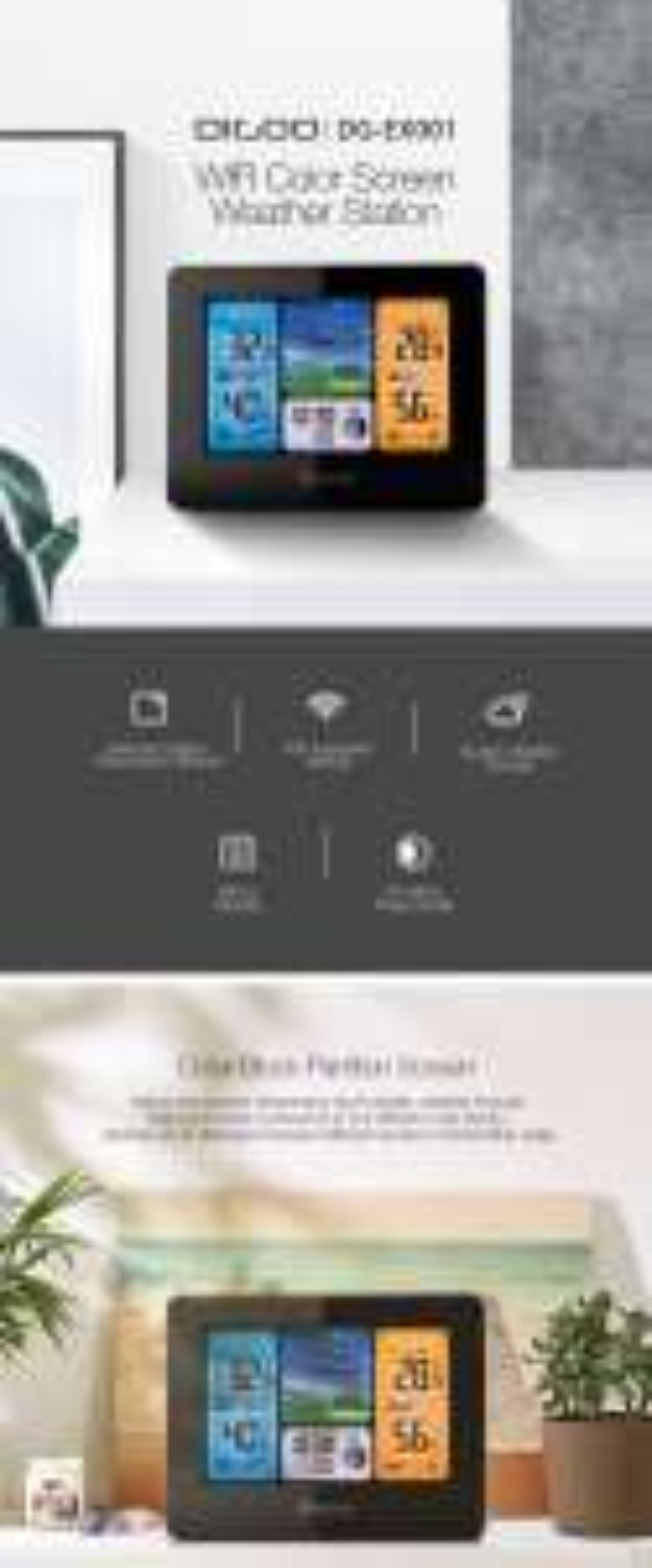 # Stacja Pogodowa SMART WiFi z dostępem do internetu apka