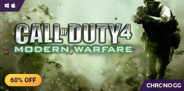 Call of Duty 4: Modern Warfare Chrono.gg STEAM/SimCity 4 Deluxe Edition za 4,25 zł w Fanatical STEAM