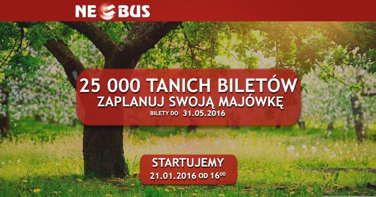 25 000 tanich biletów @ Neobus